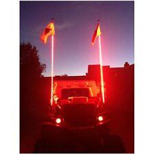 6 Feet Quick Install LED Light Whip Antenna ATV UTV SUV Red With Flag-Blue/Green