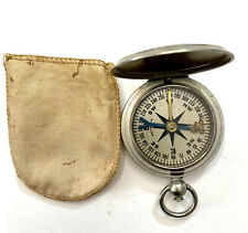 Vintage WWII US Army Wittnauer Compass With Original Pouch