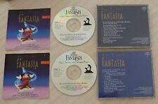 RARE 2 CD ALBUM WALT DISNEY FANTASIA 1990 VOL 1 & 2 LEOPOLD STOKOWSKI
