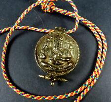 Ganesh old Pendant / Amulet portable ghau prayer box with GANESH WISHING CLOTH