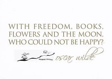 Kunstkarte: Oscar Wilde - With Freedom, Books, Flowers and the Moon, who could
