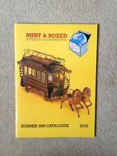 Mint & Box Antique & Collectable Toys Catalogue Summer 1989