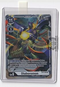 Diaboromon BT5-084 Store Champion Stamped Alt Art Digimon Card Game