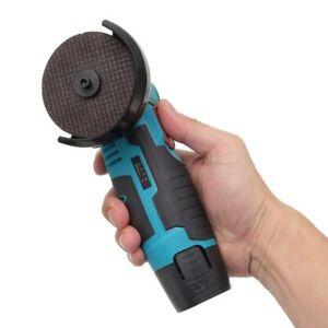 12V Micro Cordless Angle Grinder Brushless Cut Off Hand Tool Polishing Grinding