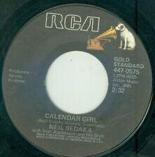 "NEIL SEDAKA - CALENDER GIRL /OH! CAROL ( USA RE/ RCA 4470575) 7"""