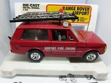 NEW. Burago Range Rover  Airport Fire Engine 1/24 In original box. SCALE MODEL.