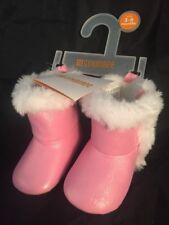 709fbf9b696f Gymboree Size 3-6 Months Boots Infant Girls Pink Sparkle Shoes Faux Fur