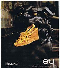 PUBLICITE ADVERTISING 114 1976 HEYRAUD chaussures pour femmes