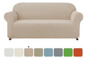 Subrtex 1 Piece Jacquard Sofa Couch Slipcover - Camel Color - Free US Shipping