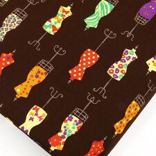 100 Cotton Fabric FQ - Butterfly Flower Polka Dot Spot Retro Dress Mannequin P4