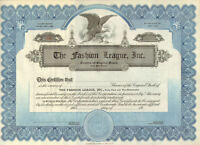 New York Fashion League > scripophily stock certificate