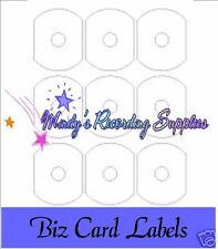Biz Business Card CD Labels White Quality Glossy 54 Pack 9 per sheet Inkjet