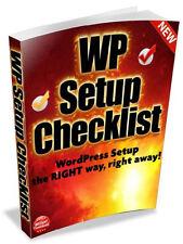 Step by Step WordPress Setup Checklist- Video Tutorials on 1 CD