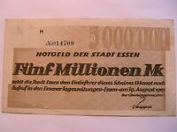1923 German State Essen VF 5,000,000 Five Million Mark Germany Paper Money 1415e