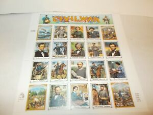 Classic Collection Civil War Collector Stamps,1994,NEVER USED,32c Postage Stamps