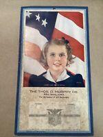 1943 Patriotic Calendar Thos Murphy Red Oak Iowa INV-P0358