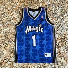 Rare Vintage Champion Orlando Magic NBA Tracy McGrady #1, Size L.