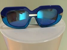 KAREN WALKER SUNGLASSES EYEWEAR BLUE MIRRORED LENSES HOLLYWOOD CREEPER NEW