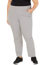 Columbia Womans Plus Size Anytime Casual Pull on Pants, Light Gray, 3X Regular