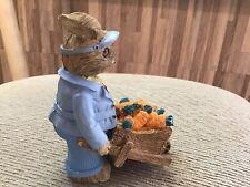 Vintage Mervyn's Rabbit With Wheelbarrow Full Of Carrots Figurine