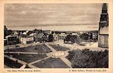 Riviere De Loup Quebec Parc Blais Birdseye View Antique Postcard K42881