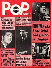 Pop Weekly Magazine 3 July 1965  Donovan  Gene Pitney  Everly Brothers Yardbirds