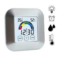 1Digital Thermometer Hygrometer Humidity Meter Room Temperature Clock NEW