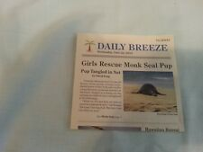 American Girl DOLL KANANI Hawaiian Monk Seal Pup SET RARE NEWSPAPER MINT