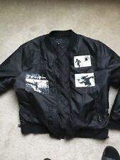 Mens Black Bomber Jacket Size Xl
