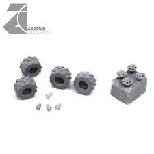 Zinge Industries Roues-Militaire 9.5 mm Roue X 4 Carotte + hub caps (S-WHE01)