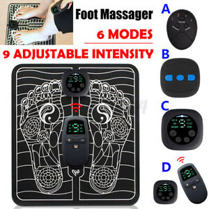 9-Level EMS Electric Foot Massager Pad Blood Circulation Muscle Stimulator