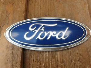 Light Blue Ford Badge 115mm x 45mm Boot Bonnet Grille Sierra Escort Capri Fiesta
