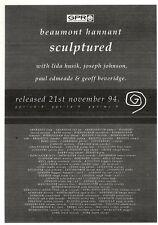 """ARTICLE - ADVERT 26/11/94PGN20 7X5"""" BEAUMONT HANNANT : SPOR SCULPTURED"""