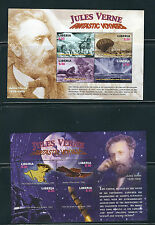 LIBERIA 2005 JULES VERNE anniversary (4 souvenir sheets and 4 mini sheets) MNH