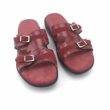 Mephisto Air Relax Red Leather Sandals Made In France Women's US 39