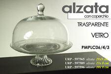 ALZATA PORTA DOLCI IN VETRO CON COPERCHIO TRASPARENTE 29*9 CM URP-597565