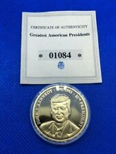 More details for 2008 greatest american presidents - john f. kennedy copper/gold plated coin +coa