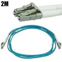 2M 6FT LC/LC 50/125 10Gb Duplex Multi Mode Fiber Optic Optical Cable OM3 Aqua