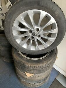 """2014-18 Vauxhall Corsa 6.5j 16"""" Alloy wheels with continental tyres x 4 13399305"""