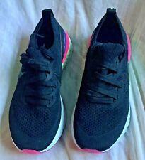 Nike Epic React Flyknit 2 Pixel Black Pink Green Sneakers Sz 5 Youth