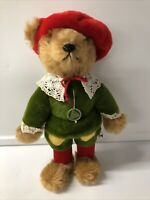 "Hermann Teddy Bear (Size 14"") Mohair Dressed Toy Coburg Germany Festive"