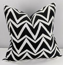 Scion Dhurrie Handmade Cushion Cover Monochrome Geometric Design Black