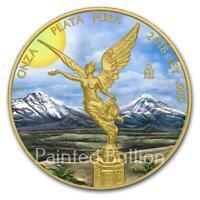 2018 Sunshine Libertad 1 oz Mexico Libertad Silver Coin - Gold Gilded