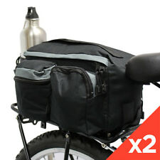2x PEDALPRO BICYCLE REAR RACK PACK TAIL TOP BAG SEAT STORAGE BIKE/CYCLE COMMUTER