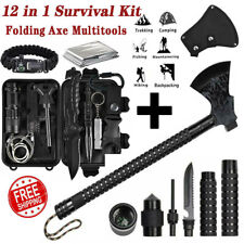 Äxt Tomahawk Notfall Gear Kit Überleben Militär Beil Taktisches Jagd Camping Set