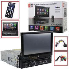 "Dual 7"" Inch Touchscreen 1 DIN Car Stereo Receiver DVD Bluetooth USB  XDVD136BT"