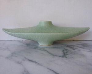"Japanese IKEBANA flower arrangement ""genie"" VASE light green glaze mid-century?"