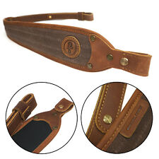 Leather Canvas Rifle Gun Sling with Soft Neoprene Cushion Backing Strap