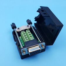 US D-SUB DB9 Female 9Pin Cover Screw Type Breakout Terminals Block Connector
