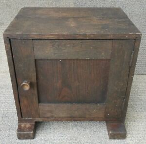 Vintage Desk Top Oak Apothecary Style Tool / Filing Cabinet